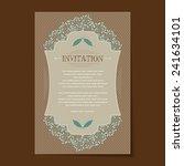 invitation card design for... | Shutterstock .eps vector #241634101