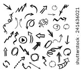 hand drawn vector arrows set. | Shutterstock .eps vector #241636021