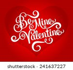 happy valentines day card | Shutterstock .eps vector #241637227