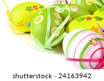 Painted Colorful Easter Eggs O...