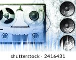 vintage grey analog recorder... | Shutterstock . vector #2416431