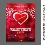 valentines day party flyer... | Shutterstock .eps vector #241649275