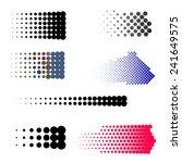 vintage dots set | Shutterstock .eps vector #241649575