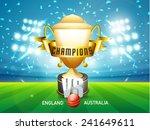 england vs australia cricket... | Shutterstock .eps vector #241649611