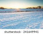 winter field sunset.... | Shutterstock . vector #241649941