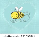 cute hand drawn valentine's day ... | Shutterstock .eps vector #241651075