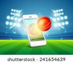 stylish smartphone video screen ... | Shutterstock .eps vector #241654639