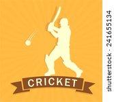 cricket batsman is ready to hit ... | Shutterstock .eps vector #241655134