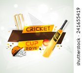 cricket cup 2015 concept with... | Shutterstock .eps vector #241655419