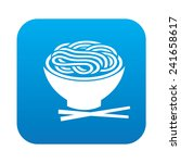 noodle icon on blue background... | Shutterstock .eps vector #241658617