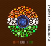 happy indian republic day... | Shutterstock .eps vector #241660525
