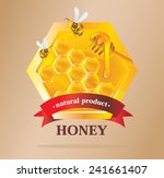 honey label with bees | Shutterstock .eps vector #241661407