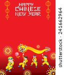 chinese new year frame with...   Shutterstock .eps vector #241662964