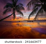Tropical Sunset On The Beach....