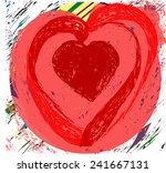 heart artwork | Shutterstock .eps vector #241667131