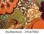 colorful floral cotton tapestry ... | Shutterstock . vector #24167002