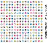 240  shopping icons set ... | Shutterstock .eps vector #241671055