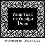 a black and white ornate... | Shutterstock .eps vector #241671721