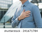 closeup of a businessman with...   Shutterstock . vector #241671784