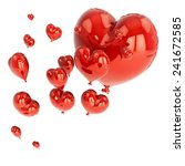 red balloon in heart shape for... | Shutterstock . vector #241672585