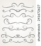 calligraphic decorative... | Shutterstock .eps vector #241672627