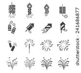 firework  icon set | Shutterstock .eps vector #241686877