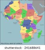 political map of africa | Shutterstock .eps vector #241688641