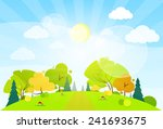 summer landscape mountain... | Shutterstock .eps vector #241693675