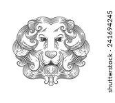 heraldic lion head vector | Shutterstock .eps vector #241694245