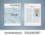 vector brochure template design ... | Shutterstock .eps vector #241696387