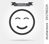 smile icon | Shutterstock .eps vector #241700224