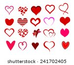 heart shape set vector | Shutterstock .eps vector #241702405