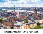 scenic summer aerial panorama... | Shutterstock . vector #241704385
