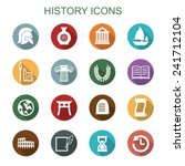 history long shadow icons  flat ... | Shutterstock .eps vector #241712104