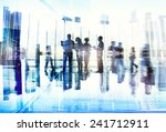 business people communication... | Shutterstock . vector #241712911