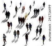 diverse diversity ethnic... | Shutterstock . vector #241716499