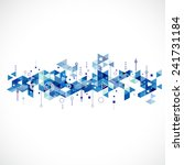abstract creative blue triangle ... | Shutterstock .eps vector #241731184