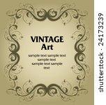vector vintage template frame...   Shutterstock .eps vector #24173239