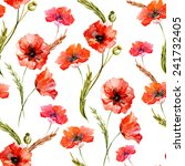 Poppy  Watercolor  Background ...