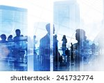 business people meeting... | Shutterstock . vector #241732774