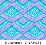 vector seamless geometric aztec ... | Shutterstock .eps vector #241734385