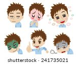 daily life of the young man | Shutterstock .eps vector #241735021