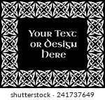a black and white ornate... | Shutterstock . vector #241737649