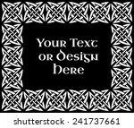 a black and white ornate... | Shutterstock . vector #241737661
