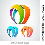 vector abstract logo design...   Shutterstock .eps vector #241740121