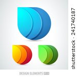 vector abstract 3d drop logo... | Shutterstock .eps vector #241740187