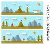 camping flat design. eps 10.... | Shutterstock .eps vector #241741291