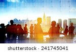 back lit business people... | Shutterstock . vector #241745041
