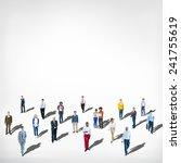 diverse ethnic business... | Shutterstock . vector #241755619