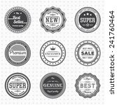 vintage labels template set. ... | Shutterstock .eps vector #241760464